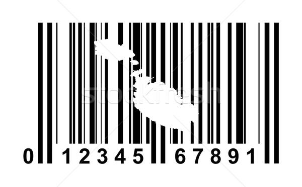 Foto stock: Malta · código · de · barras · compras · aislado · blanco · negocios