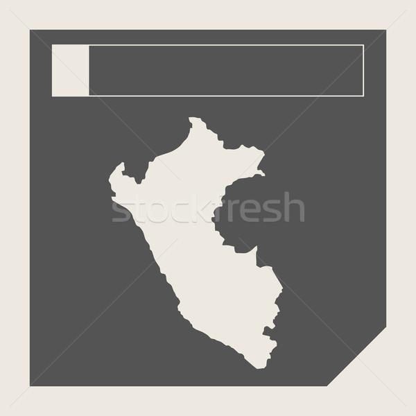 Peru mapa botão responsivo web design isolado Foto stock © speedfighter