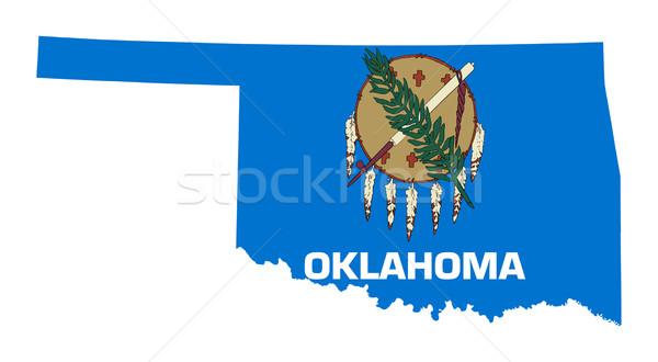 Оклахома флаг карта изолированный белый США Сток-фото © speedfighter