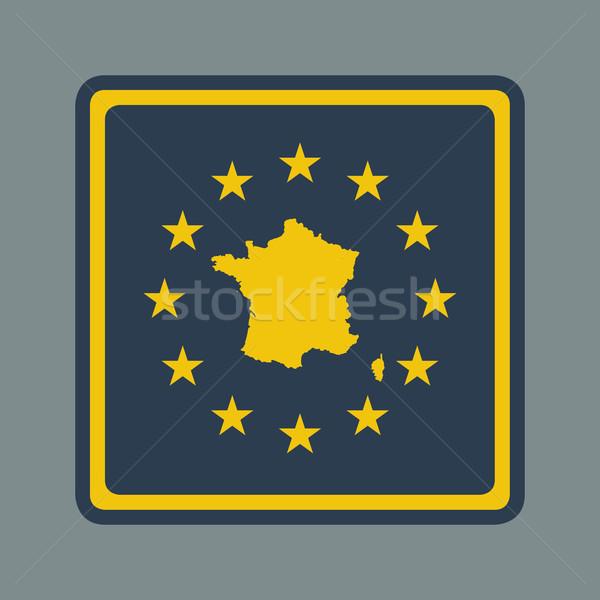 Francja europejski banderą przycisk czuły web design Zdjęcia stock © speedfighter