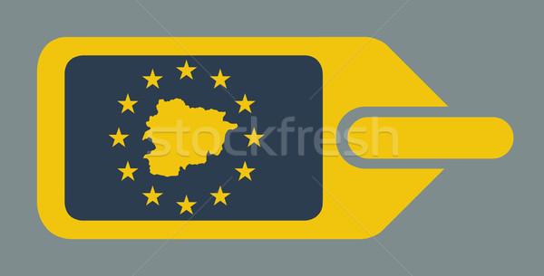 Stockfoto: Andorra · europese · bagage · label · reizen · tag