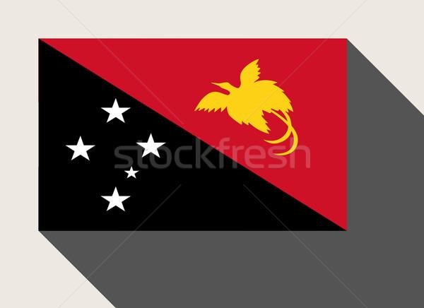 Сток-фото: Папуа-Новая · Гвинея · флаг · веб-дизайна · стиль · кнопки