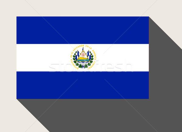 El Salvador banderą web design stylu Pokaż przycisk Zdjęcia stock © speedfighter