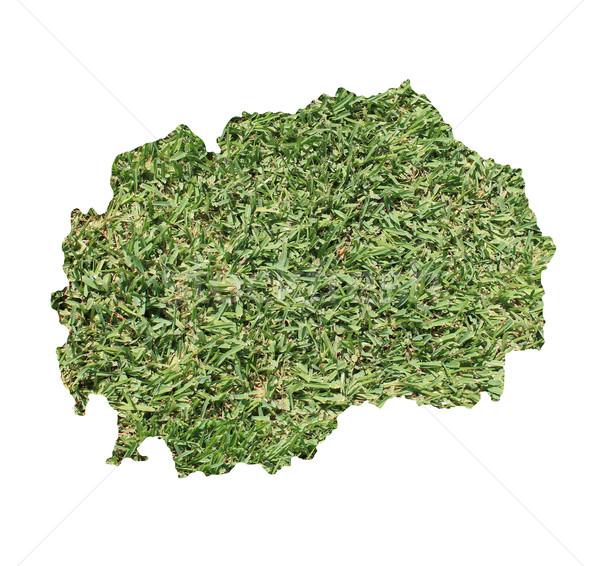 Macedonië milieu kaart groen gras ecologisch natuur Stockfoto © speedfighter