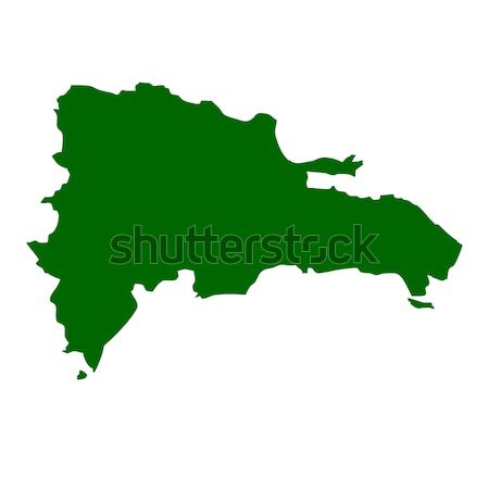 Old green paper map of Dominican Republic Stock photo © speedfighter