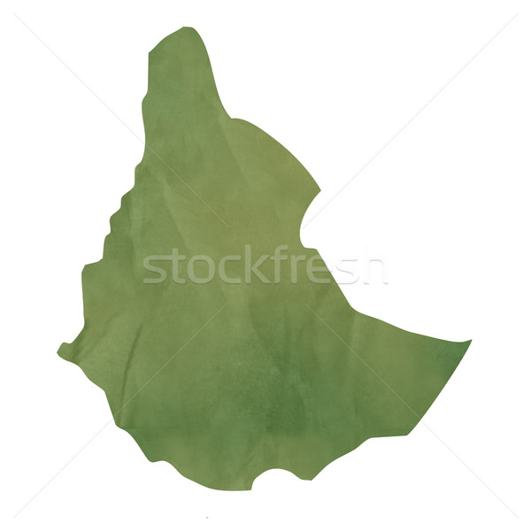 Old green paper map of Ethiopia Stock photo © speedfighter