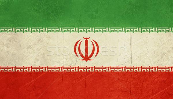 Grunge İran bayrak ülke resmi renkler Stok fotoğraf © speedfighter