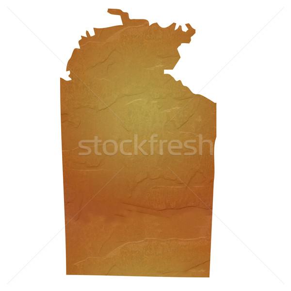 Textured map of Northern Territory Australia Stock photo © speedfighter