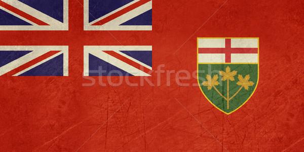 Grunge Ontario state flag Stock photo © speedfighter