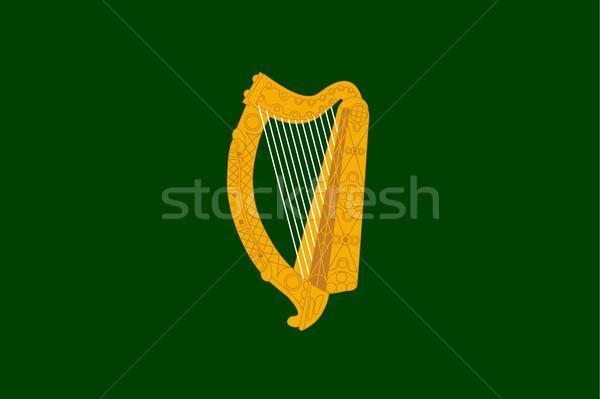Bandera oficial Irlanda fondo irlandés banner Foto stock © speedfighter