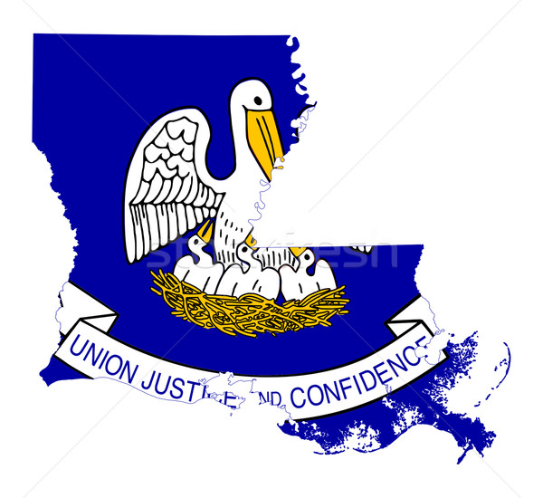 Louisiana vlag kaart geïsoleerd witte USA Stockfoto © speedfighter
