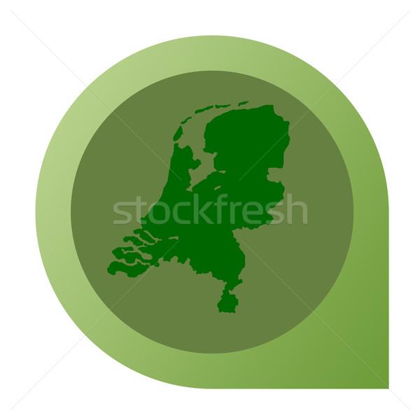 Isolated Netherlands map marker pin Stock photo © speedfighter