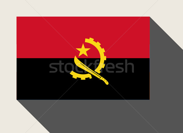 Angola flag Stock photo © speedfighter