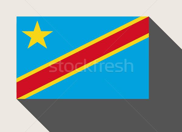 Démocratique république Congo pavillon web design style Photo stock © speedfighter