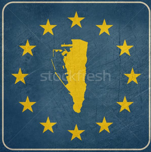 Grunge gibraltar europejski przycisk Pokaż niebieski Zdjęcia stock © speedfighter