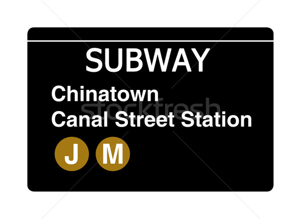 Chinatown Canal Street subway sign Stock photo © speedfighter