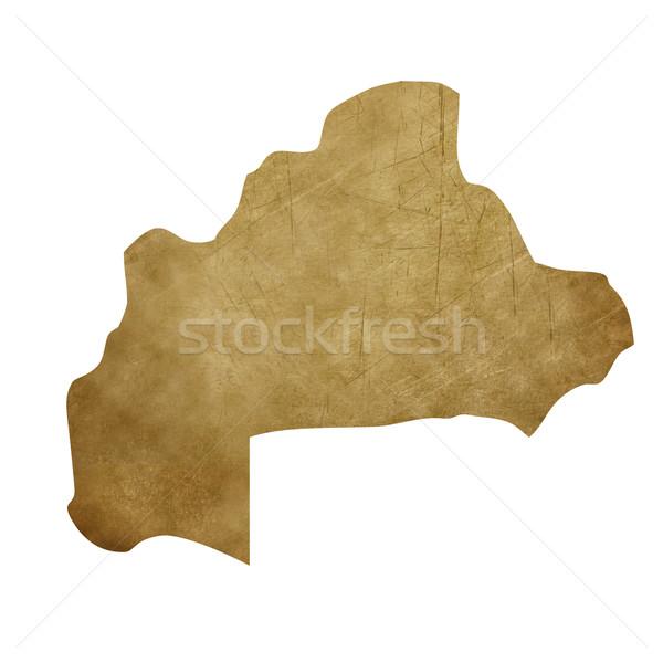 Буркина- Гранж Карта сокровищ карта сокровище стиль Сток-фото © speedfighter