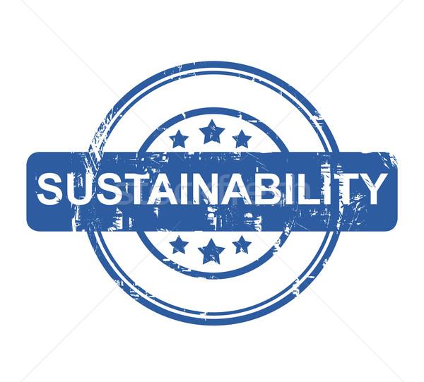 Sustentabilidade negócio carimbo isolado branco teia Foto stock © speedfighter
