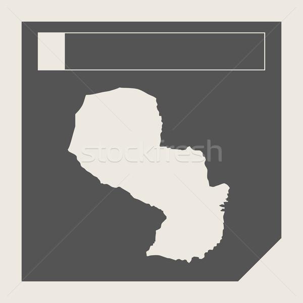 Paraguay mappa pulsante di risposta web design isolato Foto d'archivio © speedfighter