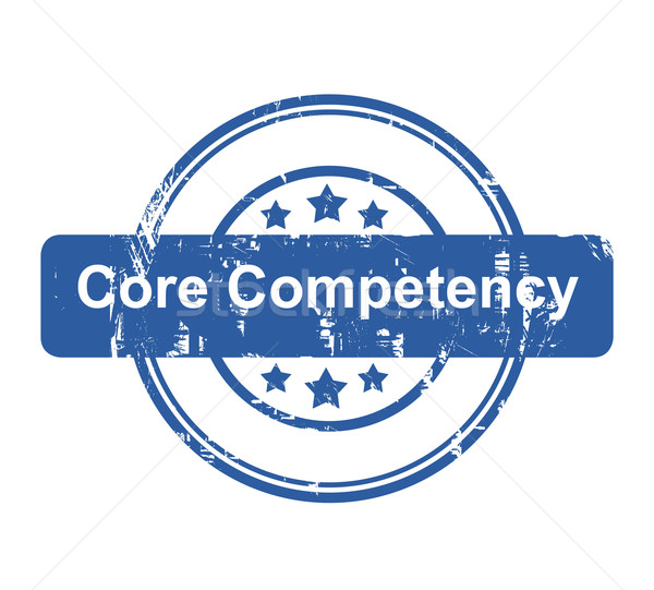 Core competency business concept stamp Stock photo © speedfighter