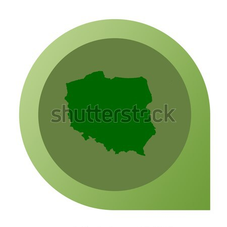 Isolated Poland map marker pin Stock photo © speedfighter