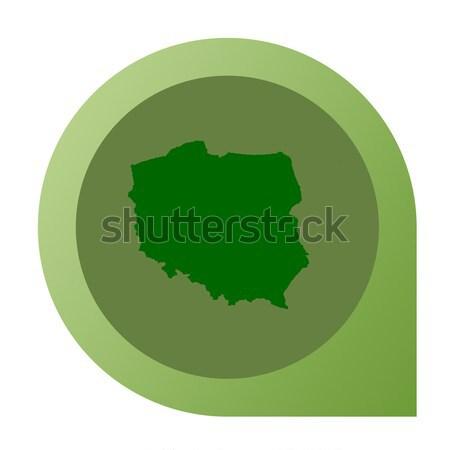 Isolé Pologne carte marqueur broches web design Photo stock © speedfighter
