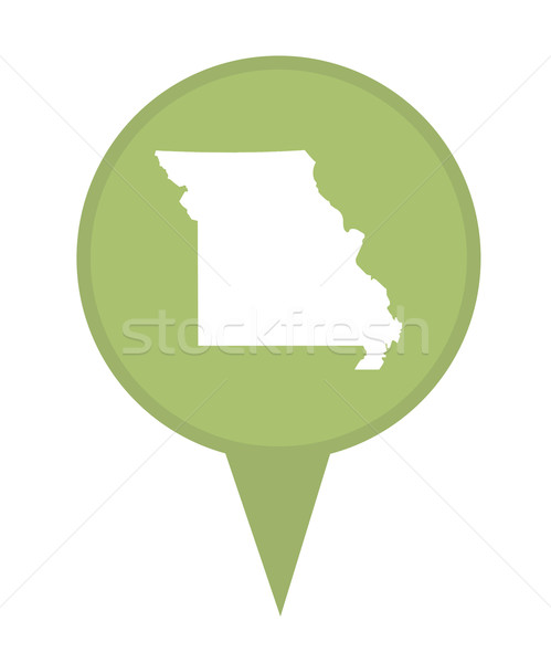 Missouri mapa pin americano marcador isolado Foto stock © speedfighter