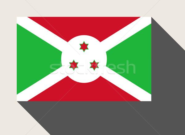 Burundi bandeira web design estilo botão Foto stock © speedfighter