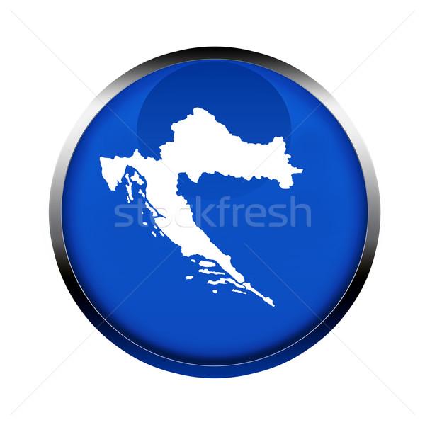Croácia mapa botão cores europeu união Foto stock © speedfighter