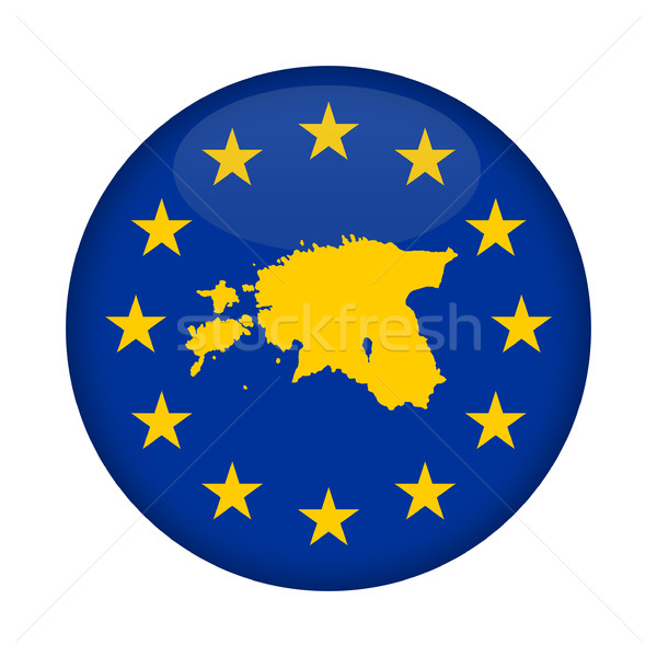 Estonia map European Union flag button Stock photo © speedfighter