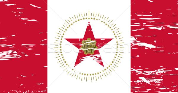 Birmingham város zászló Alabama USA grunge Stock fotó © speedfighter