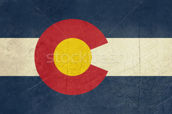 Grunge Colorado vlag amerika geïsoleerd witte Stockfoto © speedfighter