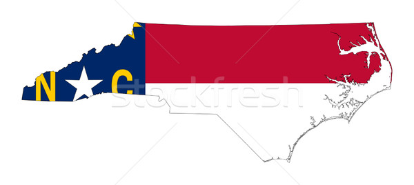State of North Carolina flag map Stock photo © speedfighter