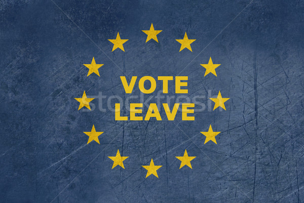 Vote leave European flag Stock photo © speedfighter