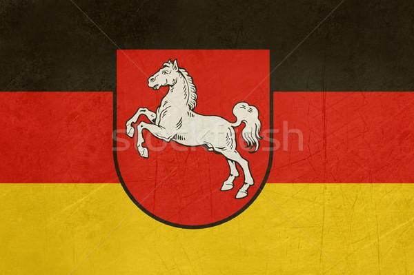 Сток-фото: Гранж · снизить · флаг · иллюстрация · баннер