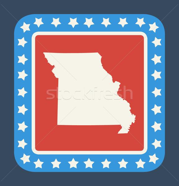 Missouri bouton drapeau américain web design style isolé Photo stock © speedfighter