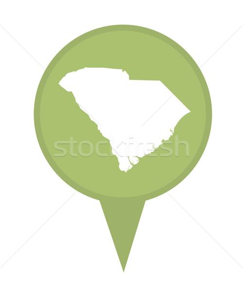 South Carolina kaart pin amerikaanse fiche geïsoleerd Stockfoto © speedfighter