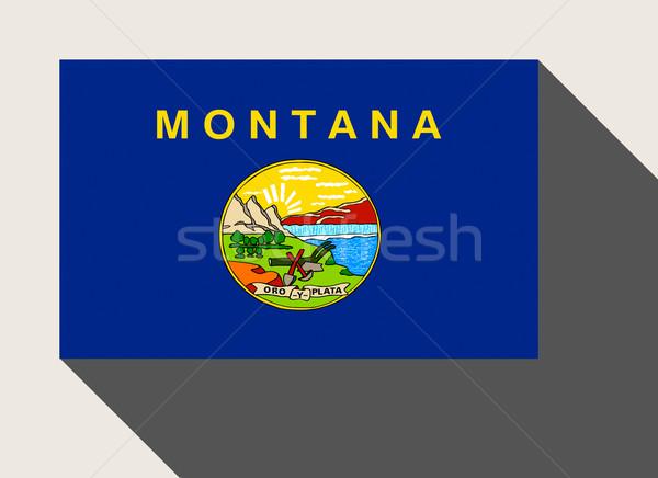 Americano Montana bandiera web design stile pulsante Foto d'archivio © speedfighter