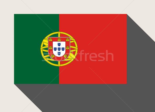 Portugal pavillon web design style bouton isolé Photo stock © speedfighter