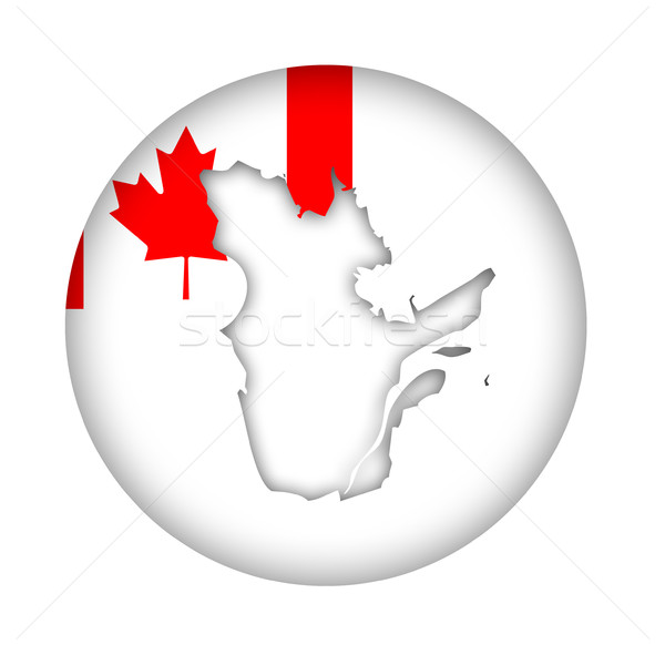 Canada Quebec state map flag button Stock photo © speedfighter