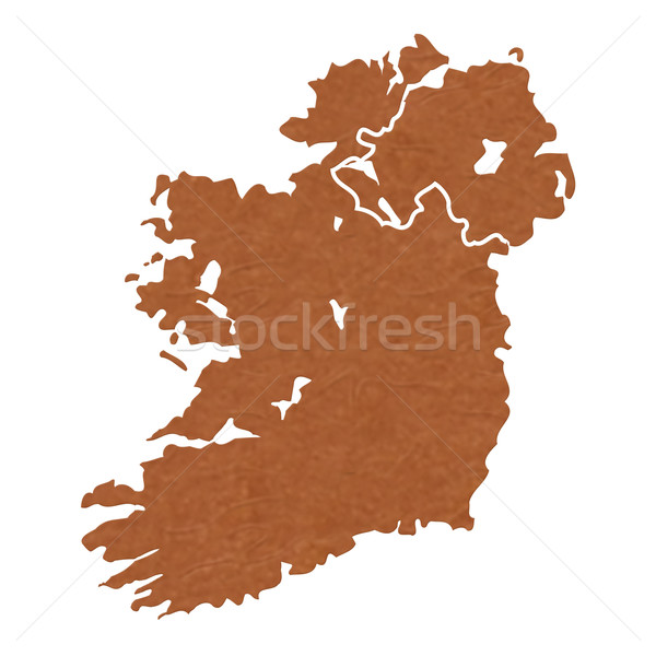 Textured map of Ireland Stock photo © speedfighter