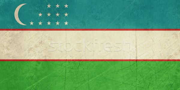 Grunge Üzbegisztán zászló vidék hivatalos színek Stock fotó © speedfighter