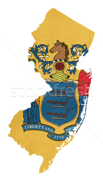 Grunge New Jersey bandiera mappa isolato bianco Foto d'archivio © speedfighter