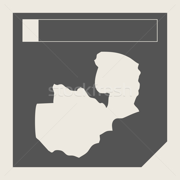 Замбия карта кнопки отзывчивый веб-дизайна изолированный Сток-фото © speedfighter