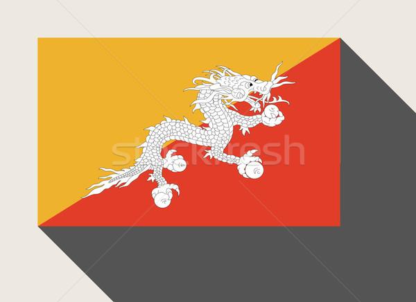 Bhutan vlag web design stijl knop Stockfoto © speedfighter