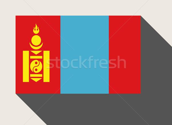 Mongólia zászló web design stílus térkép gomb Stock fotó © speedfighter