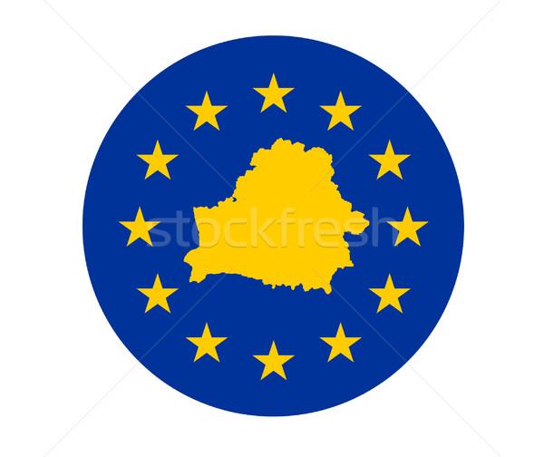 Wit-Rusland europese vlag kaart unie Geel Stockfoto © speedfighter