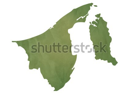 Old green map of Brunei Stock photo © speedfighter