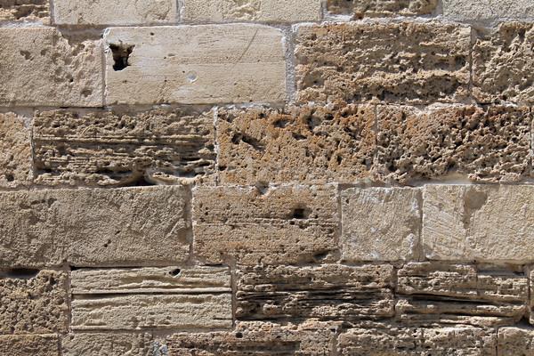 Zdjęcia stock: Starożytnych · murem · starych · Roman · budynku