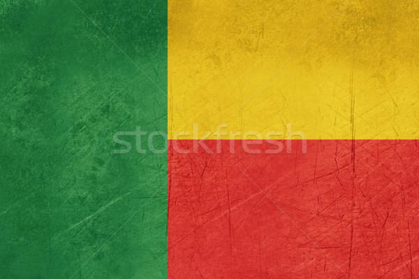 Grunge Benin bandiera paese ufficiale colori Foto d'archivio © speedfighter